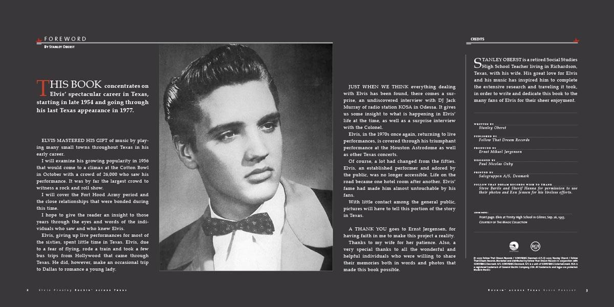 Elvis Presley, Rocking Across Texas